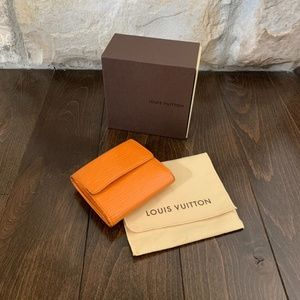 Louis Vuitton Orange Epi Wallet